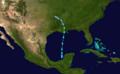 1956 Atlantic tropical storm 2 track.png
