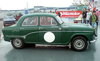 The Austin A105 with which Jack Sears won the 1958 British Saloon Car Championship 1958 Jack Sears.JPG