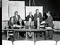 1959. Northwest Forest Pest Action Council executive committee. L-R Glascock, Furniss, Howard, Cornelius, Barnes, Bjorklund, Taylor, Kolbe. Portland, Oregon. (34232446702).jpg