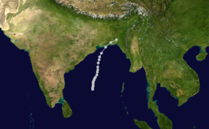 1970 Bhola cyclone track.png