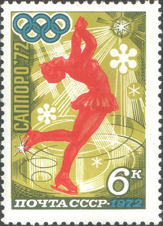 Layback spin - The layback spin used as an iconic image to represent figure skating.