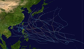1991 Pacific typhoon season - Image: 1991 Pacific typhoon season summary
