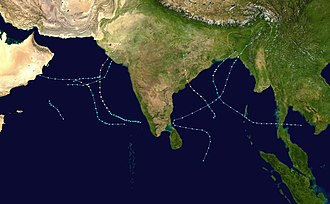 1998 North Indian Ocean cyclone season - Image: 1998 North Indian Ocean cyclone season summary