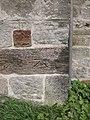 1GL bench mark and bolt, St Mary's church - geograph.org.uk - 1900426.jpg