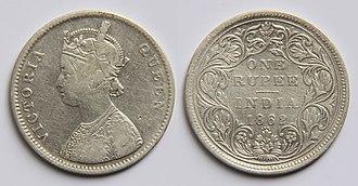 Noor Mahal - Image: 1 Indian rupee (1862)