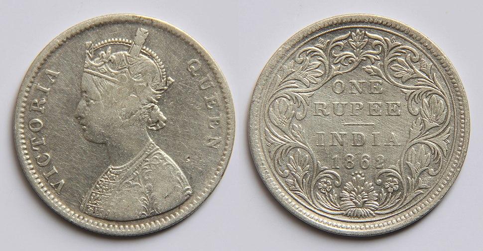 1 Indian rupee (1862)