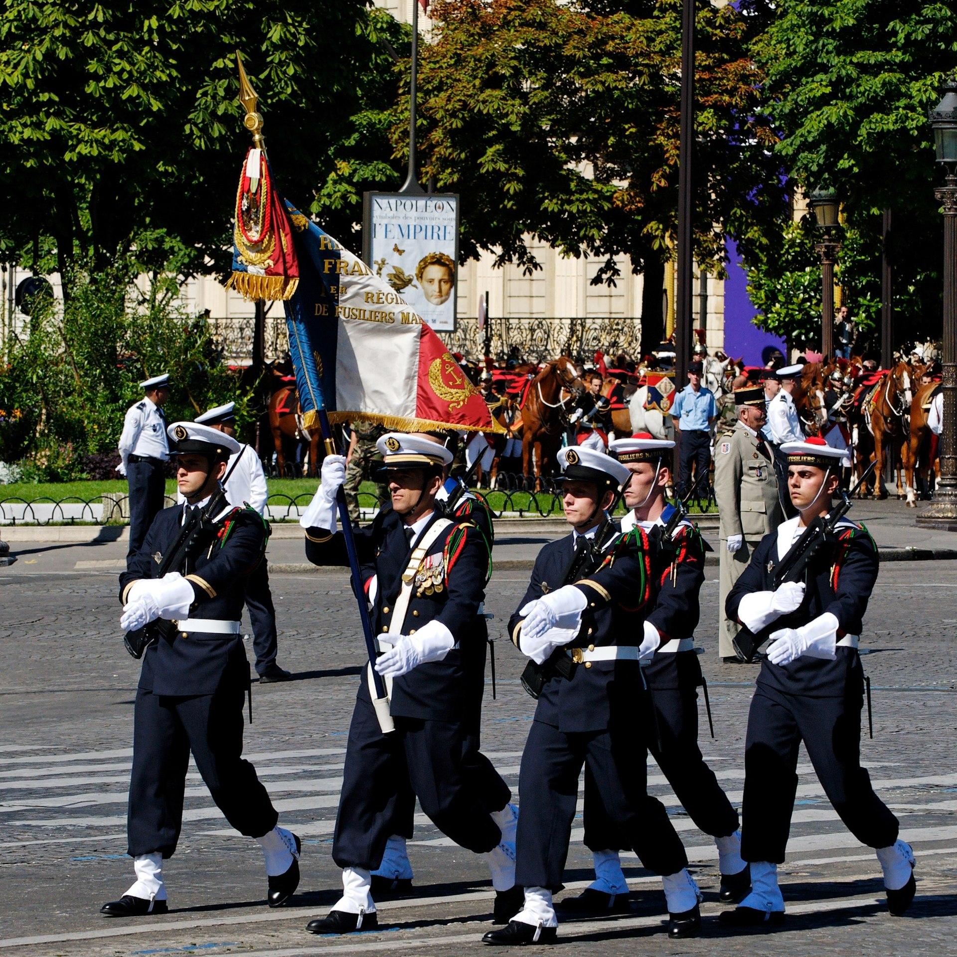 Color guard flags