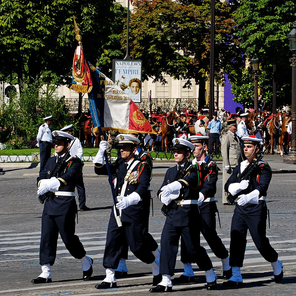 1er RFM flag guard Bastille Day 2008