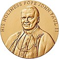 2000 Pope John Paul II Congressional Gold Medal front.jpg