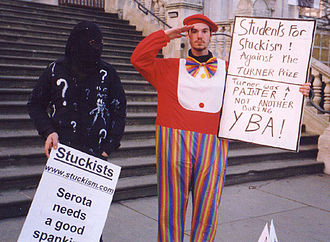 Stephen Howarth - SP Howarth demonstrates against the Turner Prize in 2001