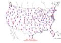2006-06-14 Max-min Temperature Map NOAA.png