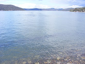 Hawkesbury River - Looking south–east across the Hawkesbury River, from near Brooklyn.