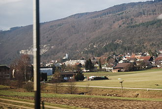 Pieterlen - View of Pieterlen and the neighboring mountain