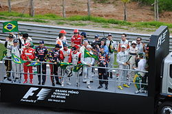 Drivers' parade at 2011 Brazilian Grand Prix