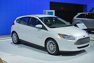 Ford Focus Electric 5-door hatchback electric car produced by Ford