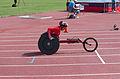 2013 IPC Athletics World Championships - 26072013 - Hongzhuan Zhou of China during the Women's 400m - T53 first semifinal.jpg