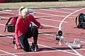 2013 IPC Athletics World Championships - 26072013 - Nikol Rodomakina of Russai preparing for the Women's 100m - T46 first semifinal.jpg