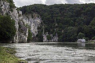 Danube Gorge (Weltenburg) nature reserve in Bavaria, Germany