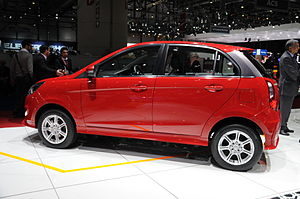 Tata Bolt - Tata Bolt being displayed at 2014 Geneva Motor Show