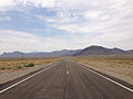 2014-07-17 11 12 02 View west along U.S. Route 6 about 52.8 miles east of the Esmeralda County Line in Nye County, Nevada.JPG