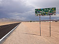 2014-07-17 15 11 05 Sign for the Extraterrestrial Highway along southbound Nevada State Route 375 about 8.9 miles south of the Nye County Line in Rachel, Nevada.JPG