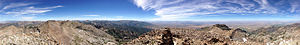 Ruby Dome - Image: 2014 07 25 13 29 11 Full 360 degree panorama from the summit of Ruby Dome, Nevada