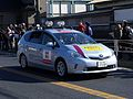 2014 Hakone Ekiden Team support car Prius Alpha.jpg