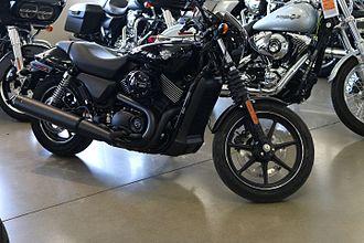 Harley-Davidson Street - Image: 2014 Harley Davidson Street 750 showroom side