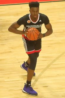 20150401 MCDAAG Jaylen Brown pass.JPG