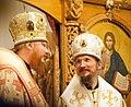 2016-07-23 01-15. Епископ Иона (Черепанов) и епископ Вениамин (Тупеко) в в Спасо-Преображенском соборе Заславля.jpg