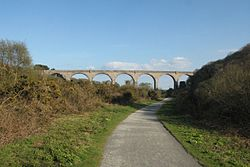 2016 at Carnon viaduct - looking south along the cyclepath.JPG