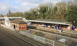 Taplow railway station - Image: 2016 at Taplow station from the south