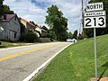 2017-08-11 15 51 33 View north along Maryland State Route 213 (College Drive) at Maryland State Route 662 (Wye Mills Road) in southern Queen Anne's County, Maryland.jpg