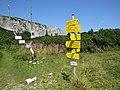 2018-08-29 (165) Fingerposts near Seehütte at Rax, Austria.jpg