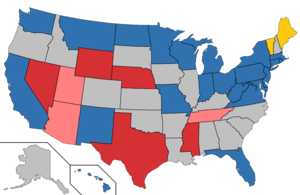 United States Senate elections, 2018 - Image: 2018 Senate Map