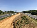 2019-06-24 10 58 43 View north along Interstate 95 and U.S. Route 17 from the overpass for Virginia State Route 3 (Plank Road) in Fredericksburg, Virginia.jpg