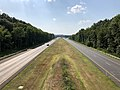 2019-07-28 17 03 17 View north along Interstate 695 (Baltimore Beltway) from the overpass for Trappe Road in Dundalk, Baltimore County, Maryland.jpg