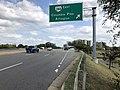 2019-09-17 15 10 01 View east along Virginia State Route 7 (Leesburg Pike) at the exit for Virginia State Route 244 EAST (Columbia Pike, Arlington) in Bailey's Crossroads, Fairfax County, Virginia.jpg