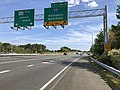 2019-09-23 15 09 09 View east along Maryland State Route 100 (Paul T. Pitcher Memorial Highway) at Exit 13 (Interstate 97, Annapolis, Baltimore) in Severn, Anne Arundel County, Maryland.jpg