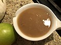 2019-11-28 14 40 22 A bowl of gravy laid out for Thanksgiving Dinner in the Parkway Village section of Ewing Township, Mercer County, New Jersey.jpg