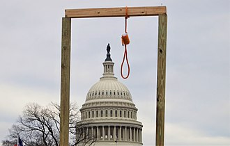 A gallows that was built outside the United States Capitol 2021 storming of the United States Capitol DSC09156 (50826223403).jpg