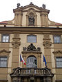 248 Klementinum, detall de la façana de Mariánské Náměstí.jpg
