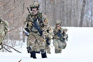 274th Air Support Operations Squadron - 274th Close Air Support Squadron airmen during an exercise at Fort Drum