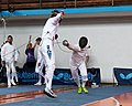 2nd Leonidas Pirgos Fencing Tournament. Double touch for Vasileios Stantsios and his opponent.jpg