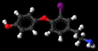 3-Iodothyronamine - Image: 3 Iodothyronamine 3D ball
