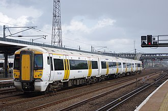 South Eastern franchise - Southeastern 375708 at Ashford International in June 2011