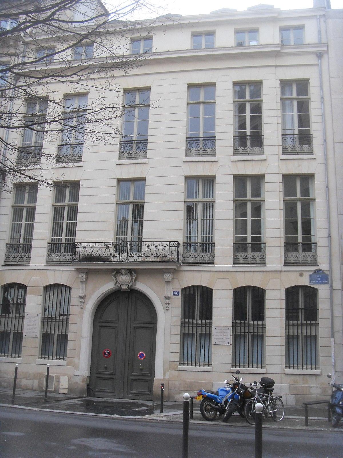 H tel de rochambeau wikip dia for Cherche hotel