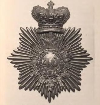 40th (the 2nd Somersetshire) Regiment of Foot - Officer's Cap Badge 40th (the 2nd Somersetshire) Regiment of Foot c.1830