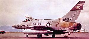510th Fighter Squadron - Image: 510th TFS North American F 100D 90 NA Super Sabre 56 3264