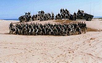 Company (military unit) - Company B, 3rd Battalion, of the 75th Ranger Regiment in Somalia, 1993.